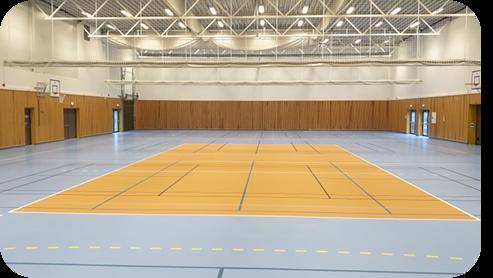 Nytt volleyballdekke